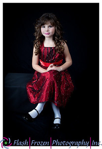 Starla - Portrait in Red. Children's Portraits by Kathy Rappaport