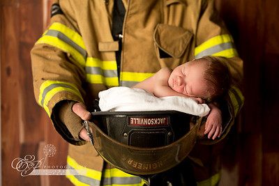 Jacksonville Fire Rescue Newborn Photographer