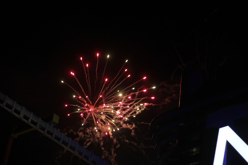 Fireworks onboard Cruise Ship