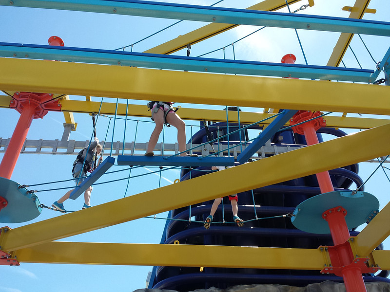 Rope Climb on top of the Cruise Ship
