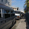 line of Tour Vans in Nassua Bahamas