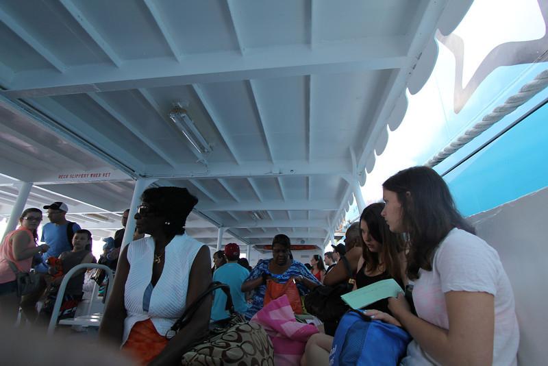 Small Ferry from ship Nassau, Bahamas