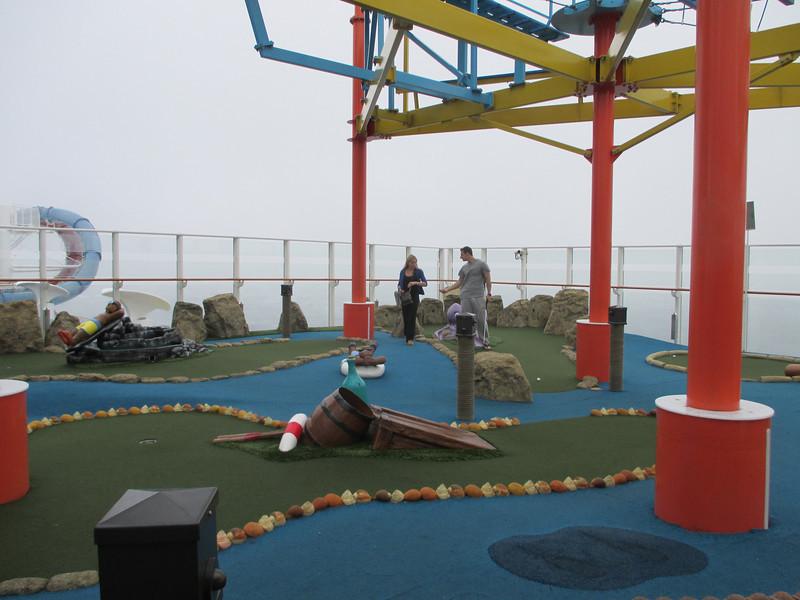 Minature Golf on Cruise Ship