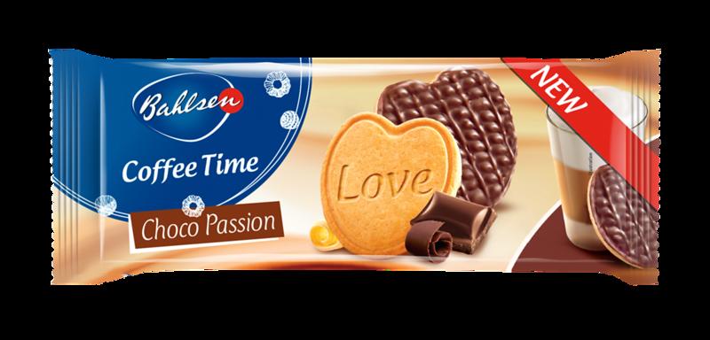 """Sviestinės širdelės su šokoladu """"Bahlsen Cofee Time"""", 143g"""