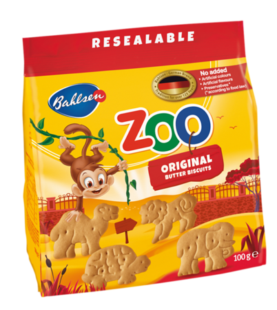 "220299 BAHLSEN Leibniz Zoo võimaitselised küpsised lastele 100g  5901414204686 Sviestiniai sausainiai ""Bahlsen Leibniz Zoo"", 100 g"