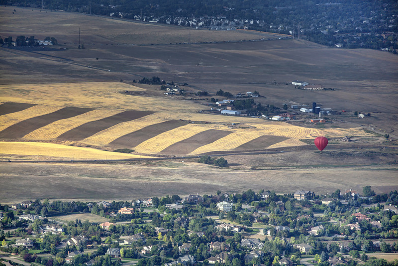 Boulder<br /> <br /> A single red balloon lands next to a briefly illuminated crop.