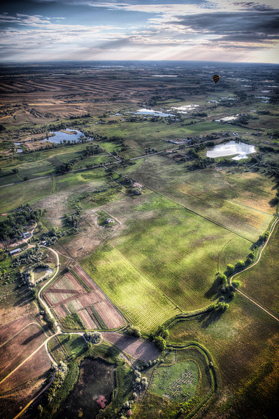 Boulder<br /> <br /> Aerial View of land near balloon launch site, East Boulder...