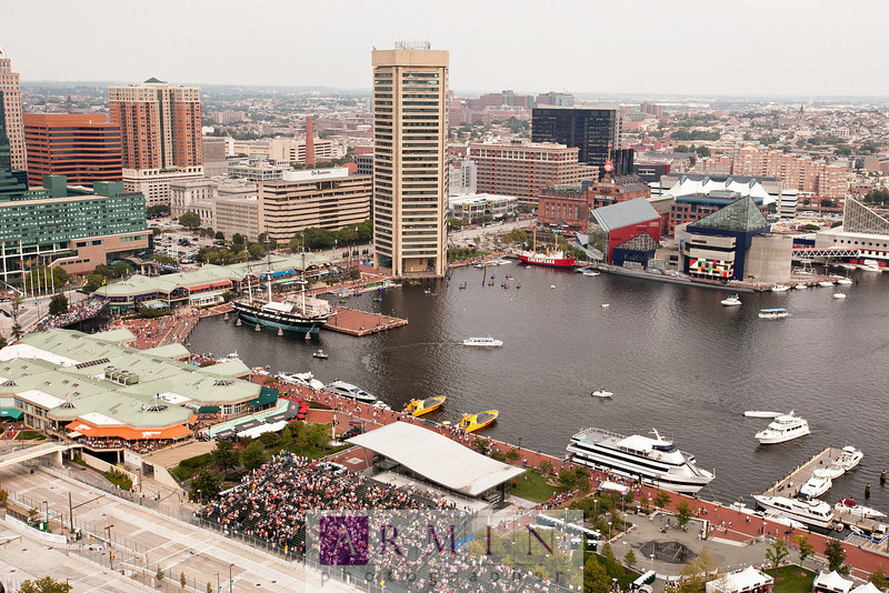 "Gorgeous view of the famous Baltimore Inner Harbor. Some are calling the Baltimore GP ""Long Beach GP of the east!"" Read all about my IndyCar coverage at <a href=""http://www.arminblog.com/?p=6272"">http://www.arminblog.com/?p=6272</a>"
