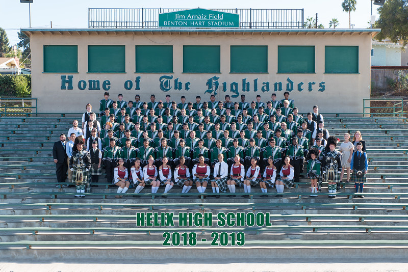 2018-2019 Helix Highlander Marching Band & Color Guard