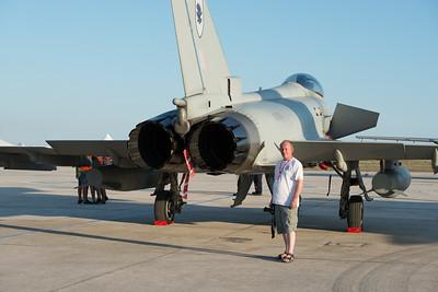 "Typhoon & myself Malta 2013. Photo courtesy of ""Iron Dragon""."