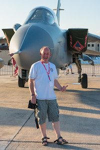 "Just happy to be standing next to my favourite aircraft - a Tornado in Malta 2013. Photo courtesy of ""Iron Dragon""."