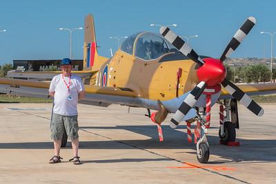 "Me & a Tucano Malta 2013. Photo courtesy of ""Iron Dragon""."