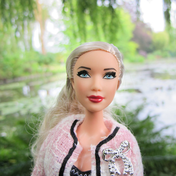 Chanel Barbie in Monet's Garden