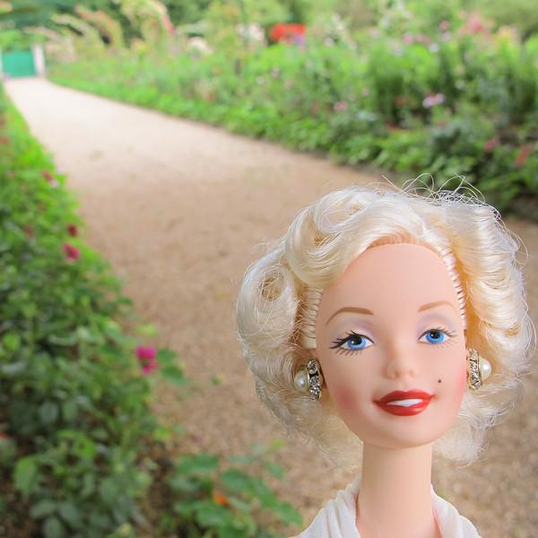 Marilyn on Monet's Path