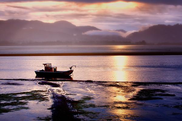 Sunrise on Tillamook Bay