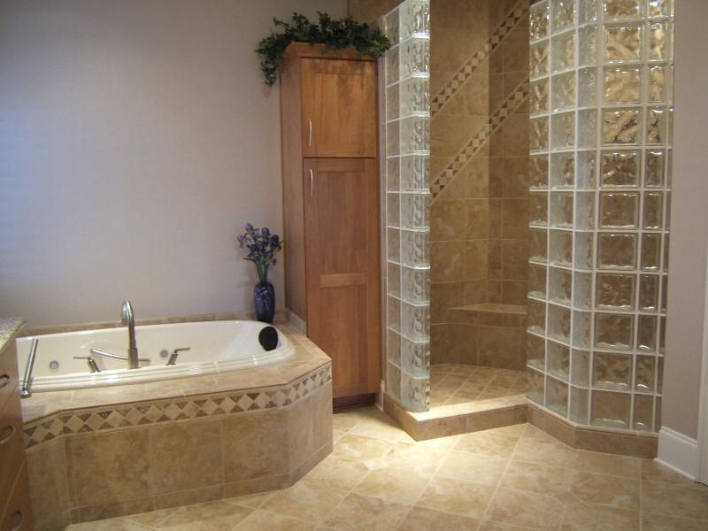 Bergonzi Masterbath: Doorless his & her spa shower