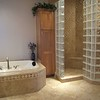 Bergonzi Masterbath: Doorless his & her spa shower