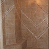 Bergonzi shower tile detail: during construction