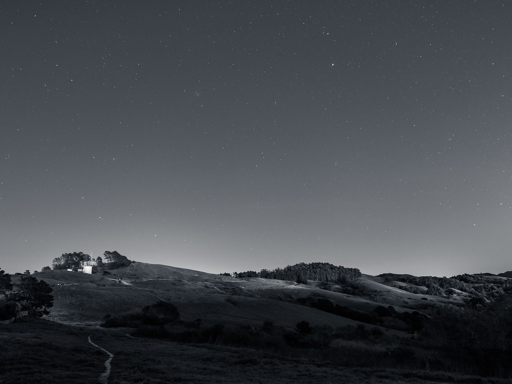 Stars above Wildcat Canyon