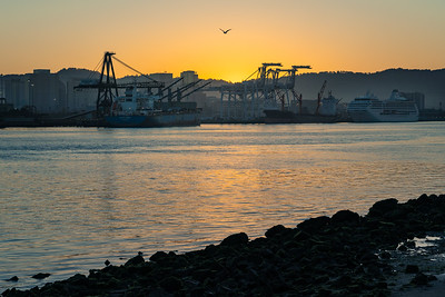 Dawn at the Oakland Port