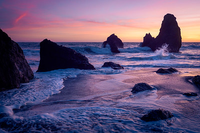 Rodeo Beach in Pink & Yellow