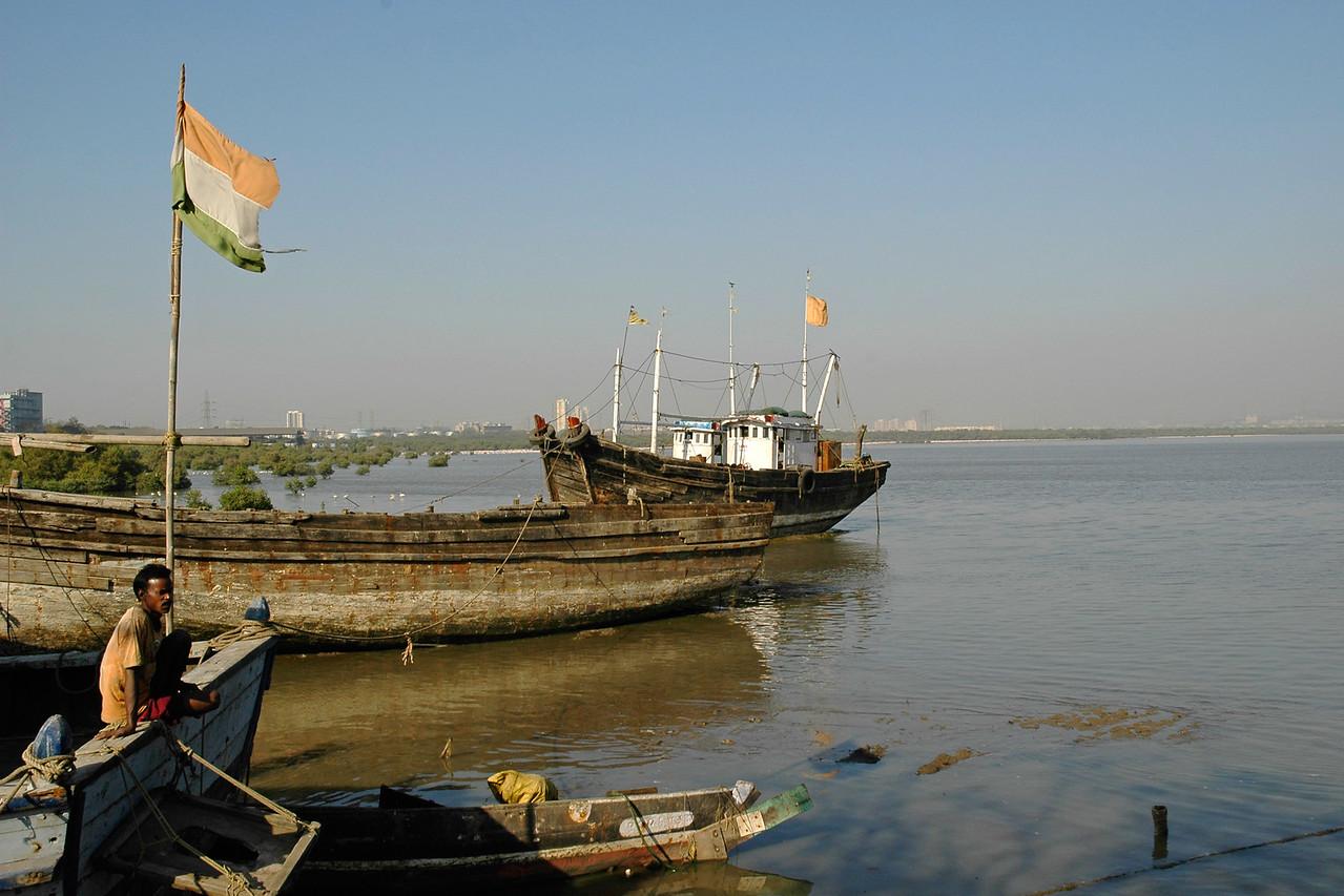 Fisherman at Sewree, Mumbai (Bombay), MH, Maharashtra, India