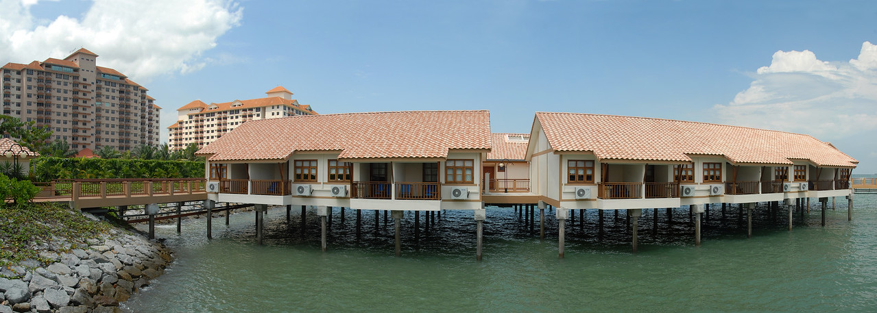 Panoramic image of Chalet in PD, Port Dickson, Malaysia.