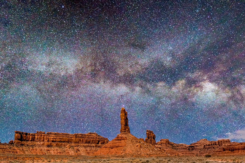 Milkyway Galaxy over Valley of the Gods Utah