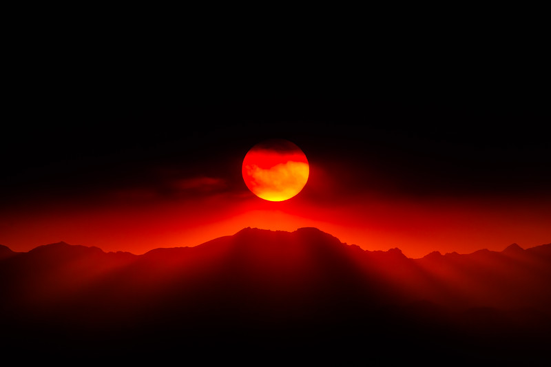 Fiery Sunset Boulder, Colorado