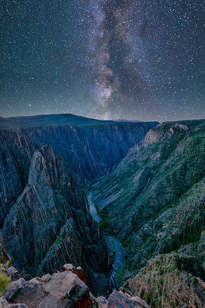 Milkyway Galaxy over Black Canyon of Gunnison, Colorado
