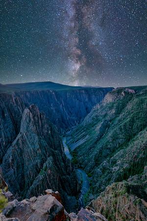 Milkyway Galaxy over Black Canyon of Gunnison, Colorado