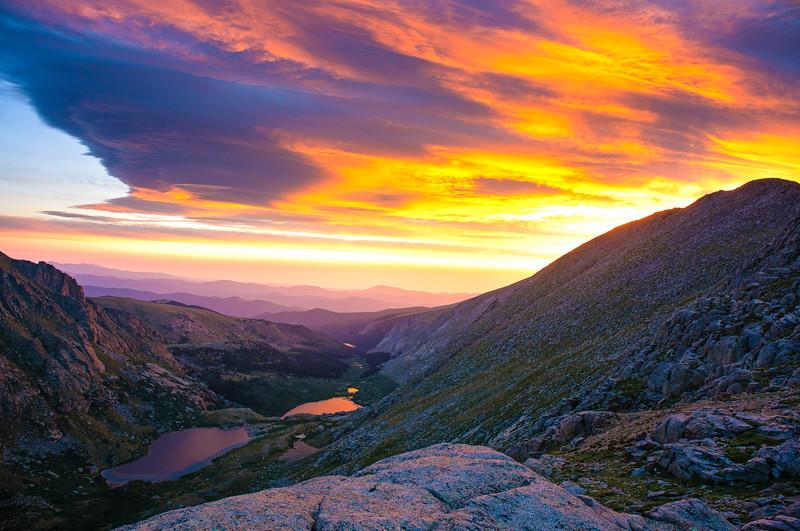 Sunrise Alpine Lake Rocky Mountains Colorado