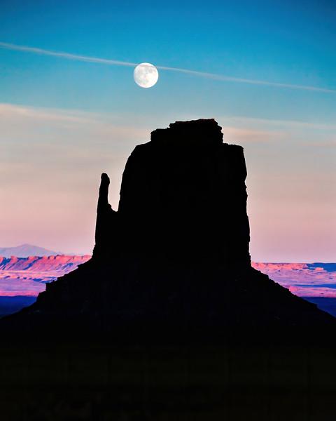 Monument Valley, Arizona Moonrise