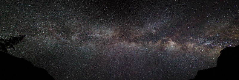 Milkyway Galaxy Panorama San Juan Mountains Colorado