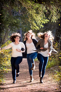 Skipping Sisters - Family Photos Barrett Park Red Deer Alberta