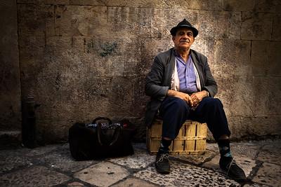 Street beggar, Bari, Italy