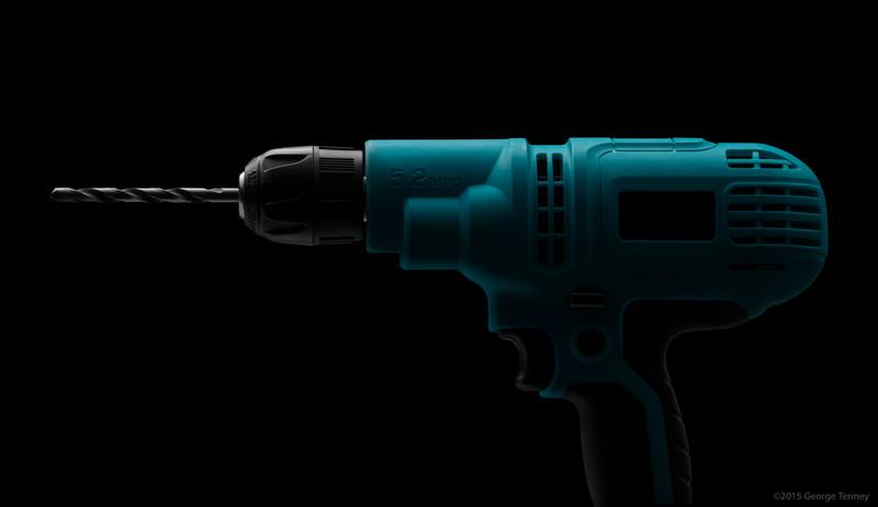 Power Drill In Studio. 5.2-Amp 3/8 Inch Drill Driver.