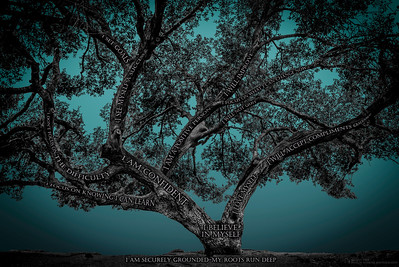 Believe Tree -Teal