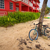 Beach Cruiser, San Pedro - Belize<br /> <br /> Bicycles here are single speed and held together with a crinkly patina of rust. They may be the most popular form of transportation on the island, but they are also the squeakiest.
