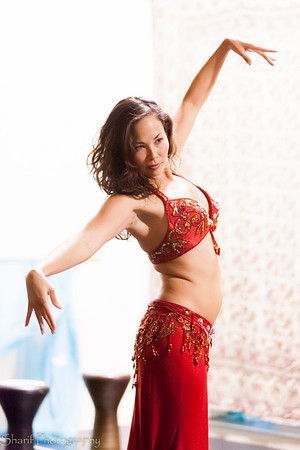 A belly dancer performs at a local show.