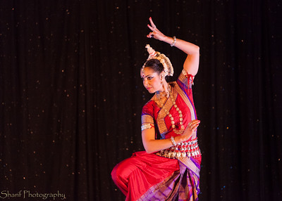 Revital Carroll, a dancer in the Odissi style from India, performs in a show  at a local theatre.