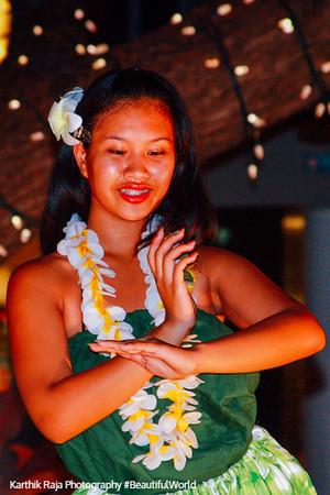Maori Dance, Hula, Evening show at Whalers Village, Maui, Hawaii, USA