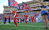 Oct 30, 2010; Oxford, MS, USA; The Mississippi Rebels take the field before a game against the Auburn Tigers at Vaught Hemmingway Stadium. The Tigers beat the Rebels 51-31. Mandatory credit: Don McPeak-US PRESSWIRE