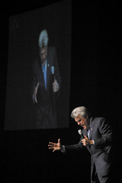 Jay Leno in a masterful comedic performance. It was truly flawless!