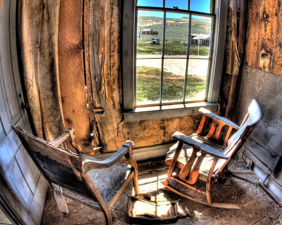 An HDR inside one of the cabins in Bodie, Calif.