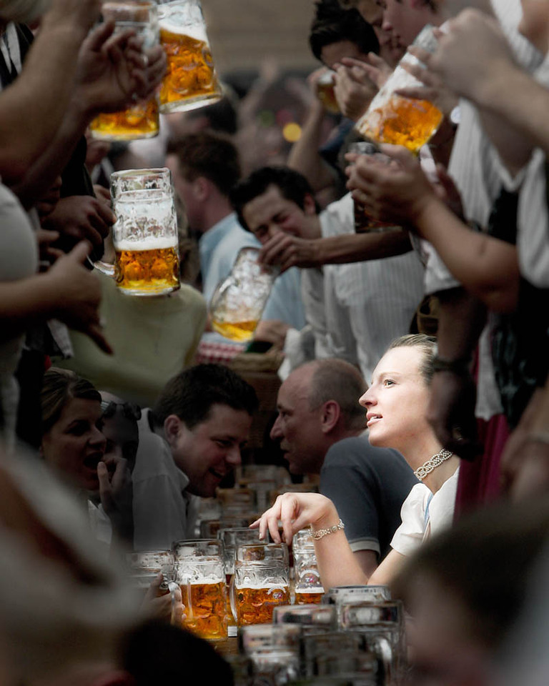 "I won 1st Place in Color Portraiture in Del Mar in 2009. I took this photo at the 2004 Oktoberfest in Munich. It's titled, ""A Face in the Crowd."""