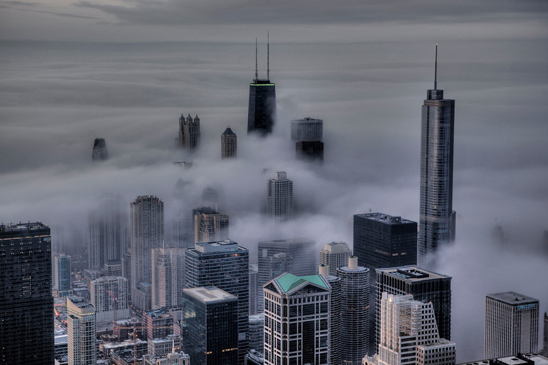 The clouds roll in over the Windy City.