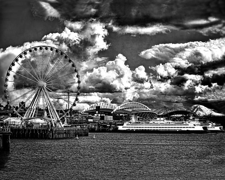 #CM597BW Ferris Wheel