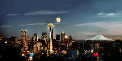 #557 Full Moon from Kerry Park
