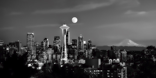 #213 Full Moon over Seattle